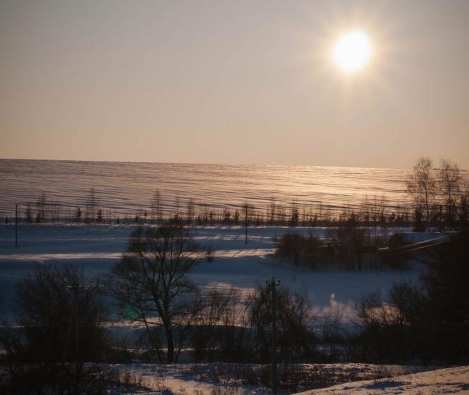 зимний закат в липецке